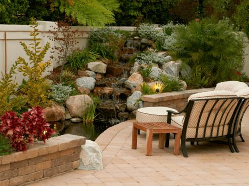 Pond, Patio and Duel Waterfalls!