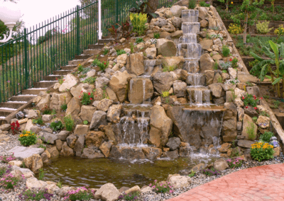 So Cal Hillside Waterfalls and Koi Pond