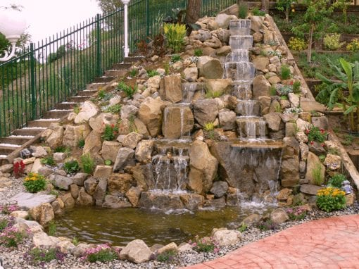 Hillside Waterfalls | 6′ x 9′ Pond & 27′ Pondless
