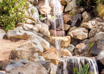 Secret Garden | 20′ Tall Pondless Waterfall