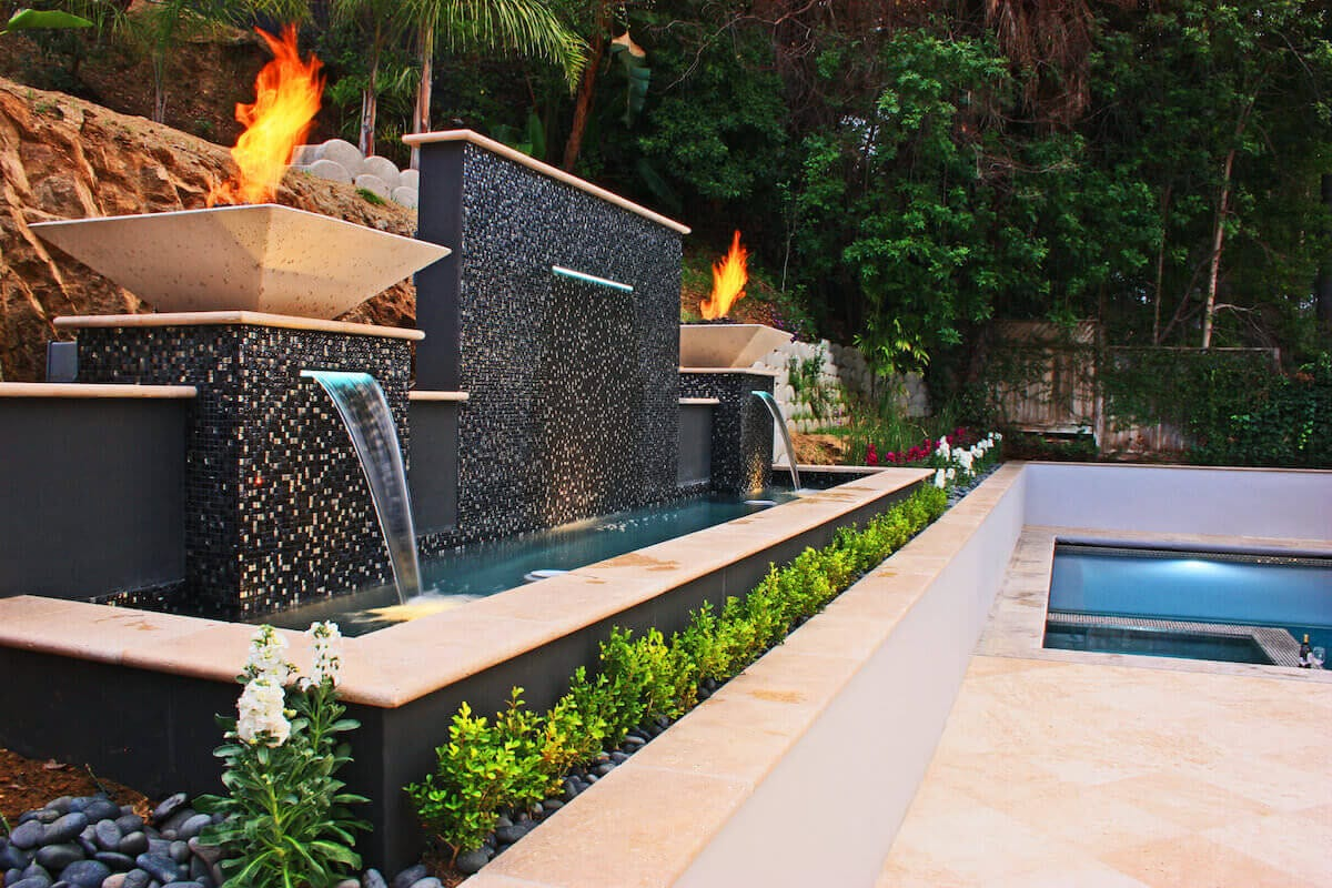 Water Features - California Waterscapes on Backyard Feature Walls id=94607
