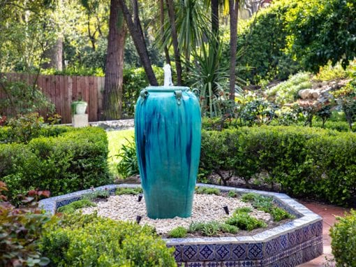 Disappearing Fountain | 46″ Blue Vase Urn